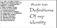Definitions of my identity